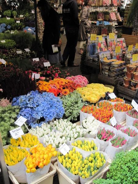 Květinový trh v Amsterodamu