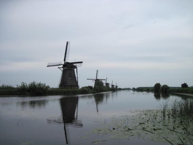 Mlýny v přírodním skanzenu u Kinderdijku II