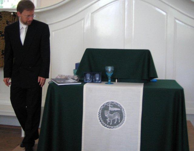 Königsfeld - místní kazatel a dary od o.s.Exulant